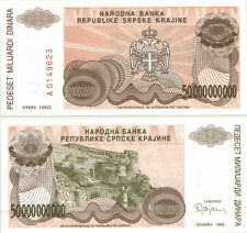 CROATIA 50 BILLION (50,000,000,000) DINARA P-R29a 1993 CRISP UNC REGIONAL NOTE!