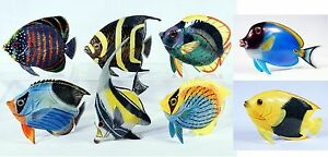 """Hand Painted Large 15"""" Standing Tropical Fish Replica Figurine Statue FB25"""