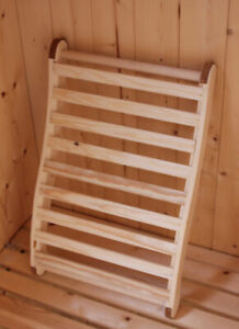 Affordable,Comfortable, Wooden sauna Backrest, Spa Quality,made by us in the UK