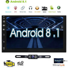 """Android 8.1 WIFI 7"""" Double DIN Car Radio Stereo CCD Player GPS Navigation+Camera"""