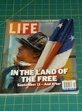 LIFE~A COMMEMORATIVE-IN THE LAND OF THE FREE SEPT 11 & AFTER VOL1 NO8 2001  PB