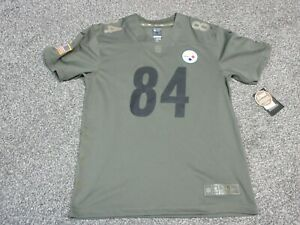 Nike Antonio Brown Pittsburgh Steelers Salute To Service Jersey Youth Boys Sz XL