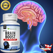 #1 Best Brain Booster Supplement Memory Focus Mind & Clarity Enhancer 60 Capsule