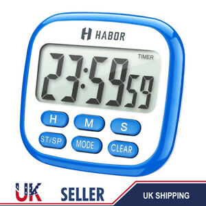 HABOR Kitchen 2 IN 1 Timer & Clock 24-Hour Oven Cooking Beeping Alarm Magnetic