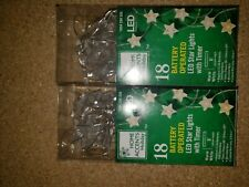 Home Accents Holiday 18 Battery Operared LED Star Lights With Timer
