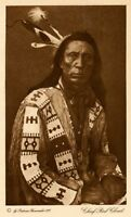 THE VANISHING RACE - CHIEF RED CLOUD (SON) - GENUINE - PHOTOGRAVURE 33