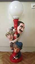 Vintage Marx Brothers Lamp Chalkware Groucho Harpo Chico Retro Bar Light Mancave