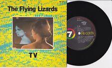 """THE FLYING LIZARDS - T.V. / TUBE - AUST. 7"""" 45 VINYL RECORD w PICT SLV - 1980"""