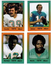 Lot of 4 Griese Csonka Warfield Morris '74 Miami Dolphins minis by Lone Star