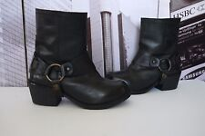 CARVELA Kurt Geiger SHERILYN Leather Biker Ankle Harness Boots US 6 UK 4 EU 37