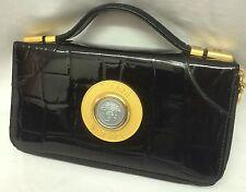 Gianni Versace  Rare mock croc  Vintage Medusa Clutch Bag