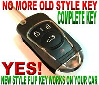 STYLISH FOLDING KEY FOR 2011-2014 FORD MUSTANG PONY CLICKER CHIP TRANSMITTER FOB