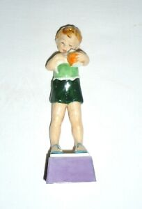 "Royal Worcester Boy Figure  ""Friday's Child is Loving and Giving"""