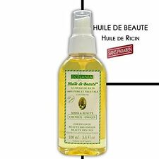 Huile de beauté 100% pure et végétale ricin sans paraben Dollania 100 ml