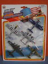 Vtg Zee Zylmex WWII Squadron Set of 5 Die Cast Planes - Sealed on card