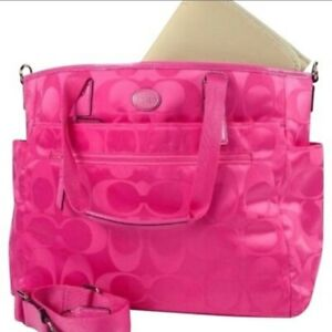 Coach Hot Pink Nylon Diaper Bag