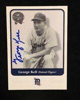 GEORGE KELL 2001 FLEER AUTOGRAPHED SIGNED AUTO BASEBALL CARD 55 TIGERS