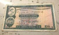 1967 Hong Kong 10 Dollars - World Currency Banknote