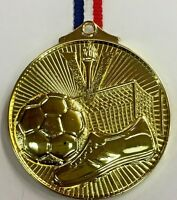 Football Gold Embossed Medal With FREE Engraving, FREE Ribbon & FREE Post