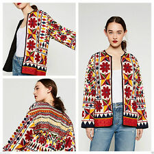 Zara Cotton Floral Coats & Jackets for Women