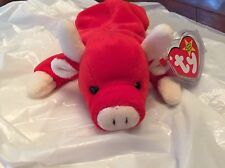 Rare Retired 1995 Snort Beanie Baby Collectors Item 100% Real Collectible