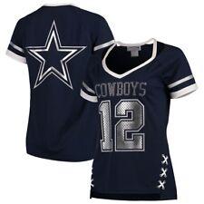 Dallas Cowboys NFL Football Women's Vixen Fashion Jersey Top Navy Roger Staubach