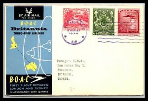 GP GOLDPATH: PAKISTAN COVER 1957 FIRST FLIGHT COVER _CV745_P13