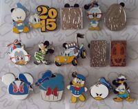 Donald Duck Cute Nerd Booster Cupcake Hidden Mickey Disney Pin Make a Set Lot