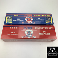 1988 and 1989 Score Baseball Premier Edition Complete Sets new SEALED