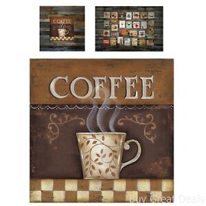 New Tin Sign Roasted Coffee Cup Retro Vintage Look Wall Art Decor Home Kitchen O