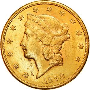 [#853275] Coin, United States, Liberty Head, $20, Double Eagle, 1898, U.S. Mint