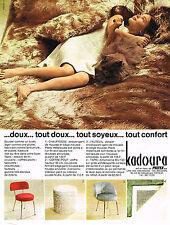 PUBLICITE ADVERTISING 094  1969  PELTEX tissus KADOURA coffre-pouf chauffeuse ta