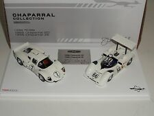 1/43 True Scale TSM 1966 Chaparral 2D and 2E Signed by Jim Hall two car set