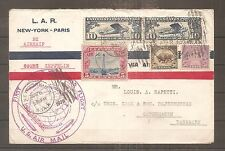 COVER AMERICAN FLIGHT USA GRAF ZEPPELIN ROUND TRIP AROUND WORLD 1929 AIRMAIL
