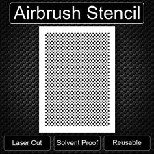 Carbon Fiber  AIRBRUSH LASER CUT REUSABLE STENCIL TEMPLATE Free Shipping