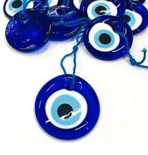 5x Nazat boncuk 4cm vidrio remolque turquía perlas decorativas Evil Eye azul ojos nz2#5