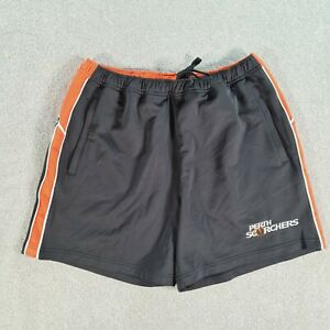 PERTH SCORCHERS Mens Black Orange Cricket Shorts Size Large