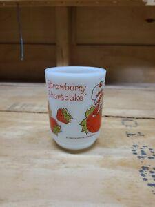 Vintage 80's Strawberry Shortcake 8 oz Anchor Hocking D Handle Mug USA
