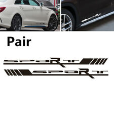 Durable 2Pcs Black Sport Side Door Racing Car SUV Vinyl Decal Stickers 55X5.2CM