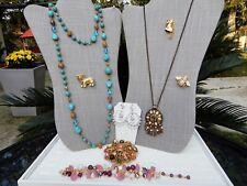 Lot of ALL Joan Rivers Gold Tone Necklaces Earrings Bracelet Brooch