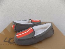 UGG RARE ANSLEY PRIX GREY SHEEPSKIN MOCCASIN SLIPPERS US 7/ EUR 38 ~NEW