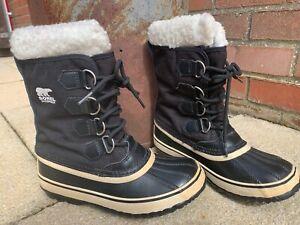 Sorel Carnival Snow Boots Black Size 4.5 uk