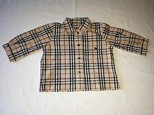 BURBERRY Baby Check long sleeves Shirt Size 6 Months