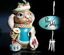 Vintage New Nos Pendelfin Herald stoneware figurine rabbit w/ Box Family circle