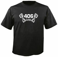 406 CUBIC INCHES T-SHIRT w/ PISTONS, S-3X sbc small block chevy