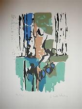 KALLOS Paul Lithographie Originale Signée Numérotée Art Abstrait Abstract Grec