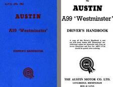 Austin 1962 - Austin A99 Westminster Driver's Handbook AKD1171A with Austin A110