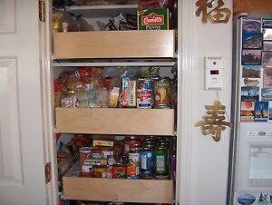 "Shelves That Slide 19 3/4 x 22"" slideout drawer 3 1/2"" tall pull out shelving"