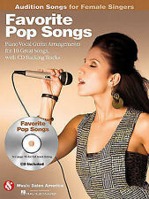 Favorite Pop Songs - Audition Songs for Female Singers: Piano/Vocal/Guitar Arran