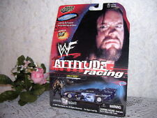 ROAD CHAMPS WRESTLING CAR ATTITUDE RACING WWF UNDERTAKER FIGURE & CAR 1999 MIP